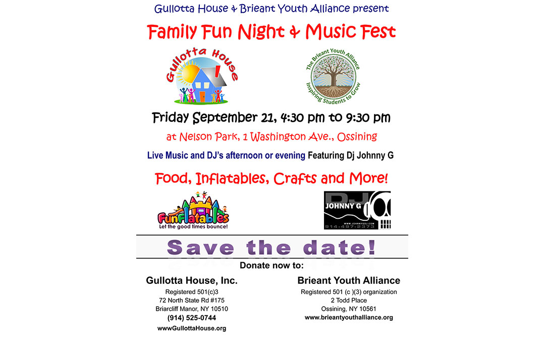Family Fun Night & Music Fest – September 21